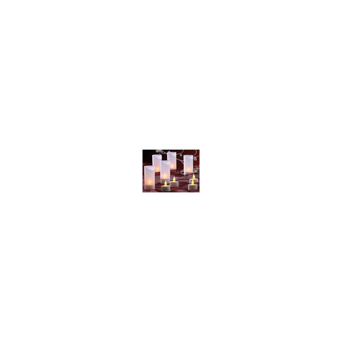 12 led akku teelichter inklusive dekogl sern und. Black Bedroom Furniture Sets. Home Design Ideas