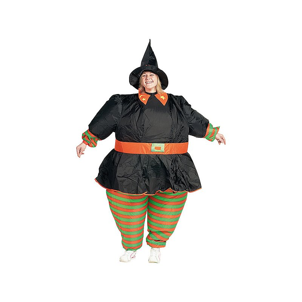 Playtastic Selbstaufblasendes Kostüm Hexe